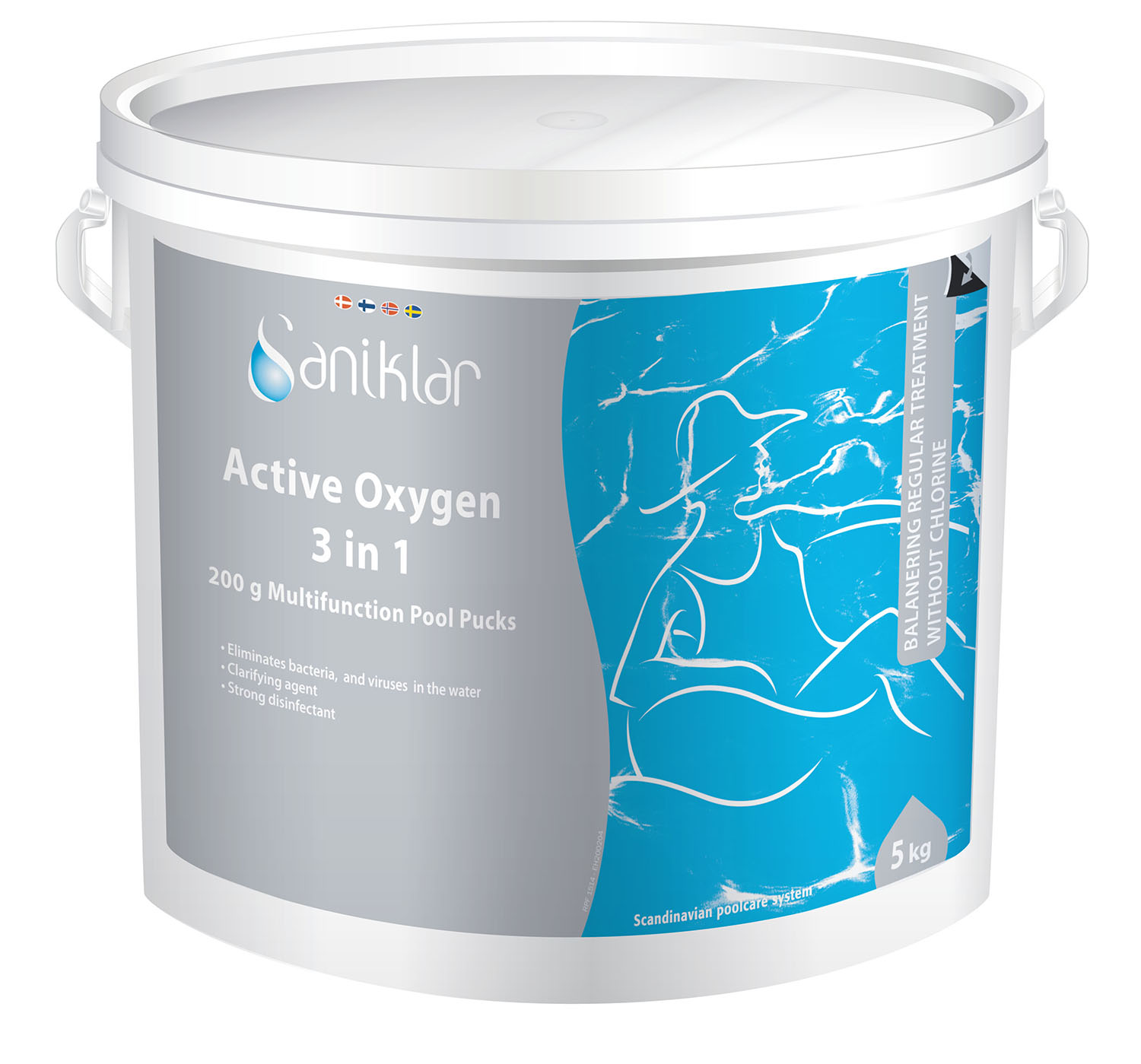 Saniklar Active Oxygen 3 in 1 – 200 grams tabletter