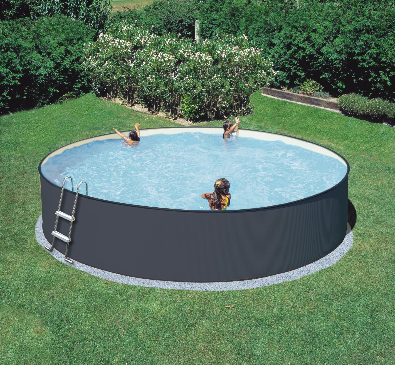 Standard Rund Pool Antracitfärgad