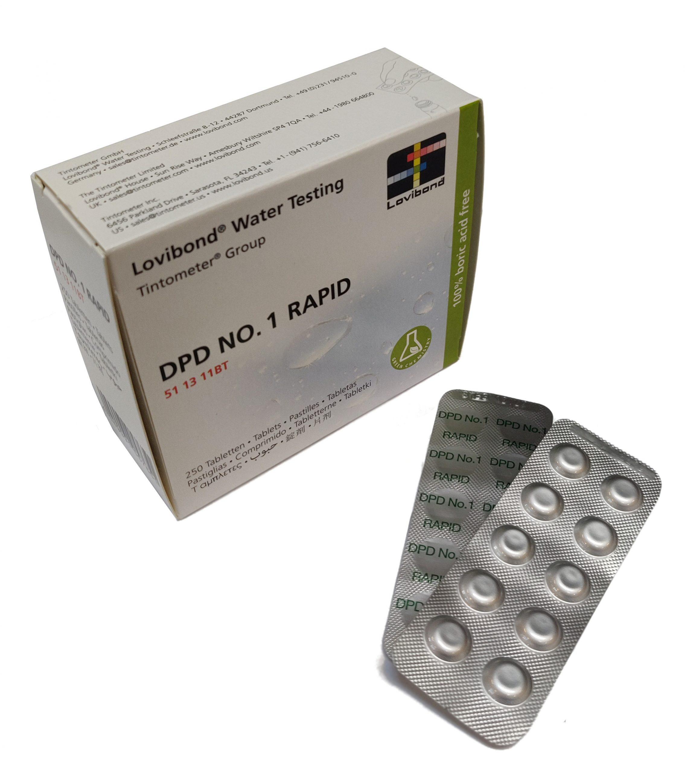DPD Nr. 1 Rapid, fritt klor (handskakare)